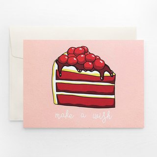 Birthday Card - Red Velvet Cake