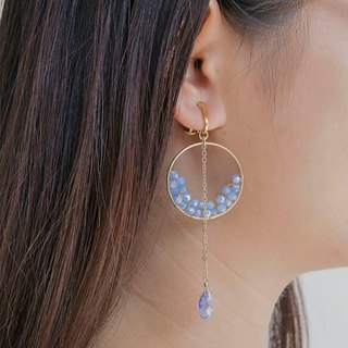 Half Moon earrings (clip-on / piercing)