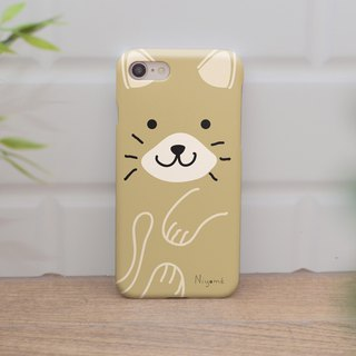 iphone case cream color cute cat for iphone5s,6s,6s plus, 7,7+, 8, 8+,iphone x