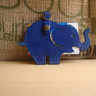 ISSIS - All handmade leather cute elephant shape leisure card set