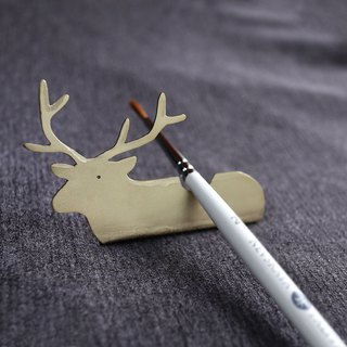 Ni.kou brass christmas snow reindeer pen holder
