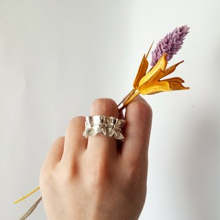 Lace Ring by metalworking service life of the Studio d'EL