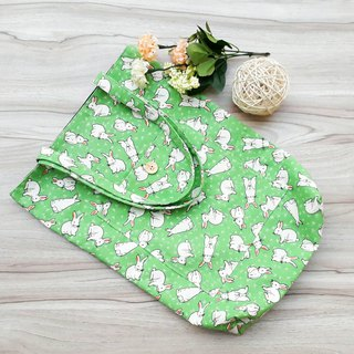 [Green Shopping Bag] Rabbit on the grass