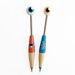 Wooden monster pens - Red and blue