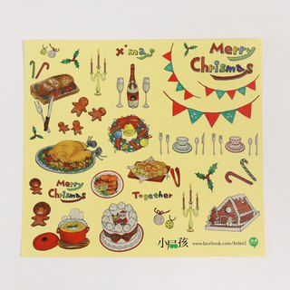 【Eat what?】Sticker / Christmas dinner