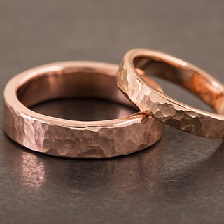 Hammered Head Ring - Copper - Hammer/Seagrass