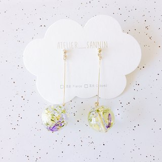 Summer travel series - the next morning dew reflection flower hand earrings ear / ear clip