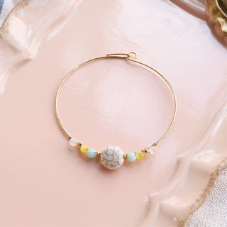 Japanese handmade ornaments - soda stone beaded bracelet