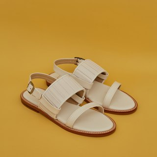 Pleated 2in1 Sandals - White