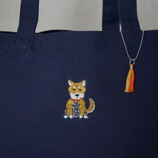"the oriental zodiac Tote bag with hand embroidery ""dog"" [order-receiving production]"