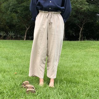 Apricot cotton pants / day by day