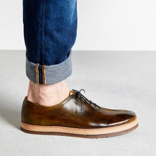 H THREE / Oxford shoes / men's shoes / flat / brown / brown tea