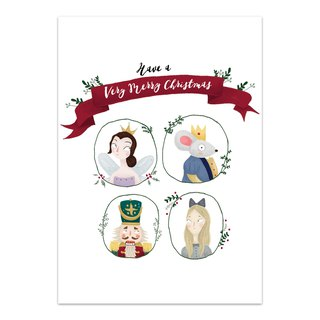 """Have a very Merry Christmas"" Nutcracker Card"