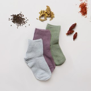 BUFU natural plant-dyeing socks  3pairs in 1 set