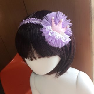 Macaron color glitter crown. Snow yarn hair band