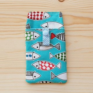 Colored Fish Pocket Pencil Case_Blue/with Document Bag