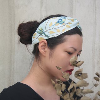 Warbler Japanese hot gold cotton handmade cross elastic hair band