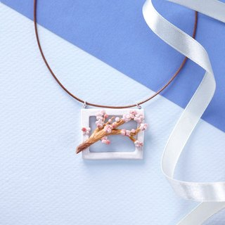 Spring Blossoms II - Handmade White Porcelain Necklace