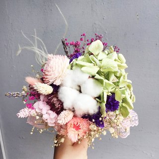 Pink main flower bride bouquet bridesmaid bouquet bouquets dried bouquets Valentine's Day is not withered flowers bouquets marry bouquets small bouquets (diameter 16cm)