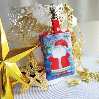 Lovely [Japanese cloth order] Santa Claus square peace bag, poetry sign lucky bag, small jewelry bag