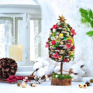 Ping Shui Meets X Shake Happiness Hsinchu Joint Floral Course - Pinecone Christmas Tree Christmas Fruit Wreath
