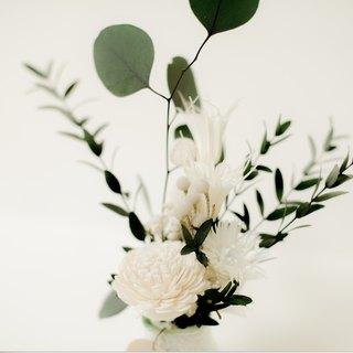 Reference building [white feeling] bottle series | dry flower | eternal flower | no withered flowers