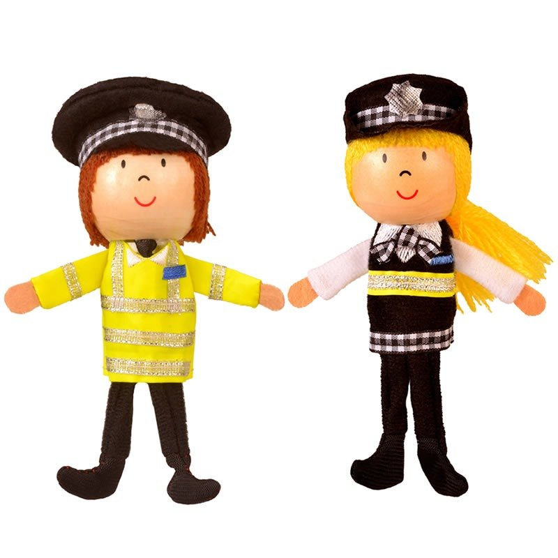 [UK Fiesta moving hands +] creative play Royal Police (M + Police policewoman) Creative fingers even Toys (the two groups)