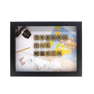 Scrabble Wall Art - Travel The World