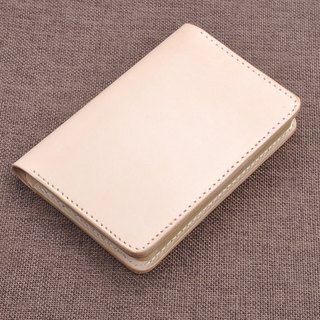 Vegetable tanned leather A6 Field Note Passport bag Multi-card bit cowhide handbook Travel essential note Free guest English