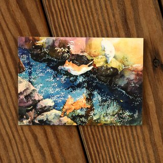 Painting Crazy Scene Series Postcard - Yuehuaxi