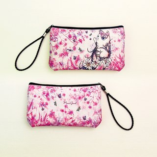 Waterproof mobile phone bag / Clutch / Out bag / purse [High-heeled cat series] # Changeable neck long rope