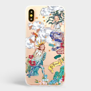 Statue of Liberty Medusa iPhone XS Max 8 plus case Samsung note 9 case s9 s8+