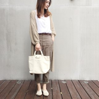 火柴木設計 Matchwood vintage tote bag 女孩 小托特包  米白