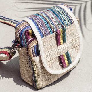 Natural cotton linen storage bag / ethnic wind purse / camera bag / mobile phone bag / card holder