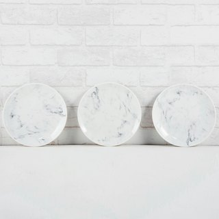 Marble pattern 20 cm porcelain disc three-piece