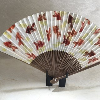 Japanese fan gold fish red