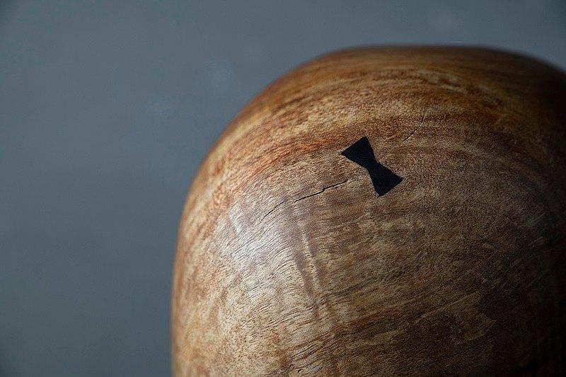手工木製花器花瓶插花花道擺飾019號大葉楨楠漬紋木