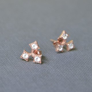 Holly leaf earrings - rose gold