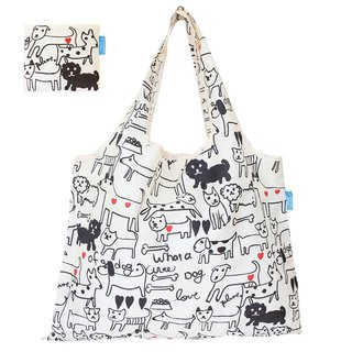 Japanese Prairie Dog Design Bag - Black and White Dog