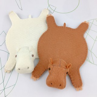 Hippo Coaster- Caramel with cotton candy 2 in