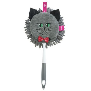 Spanish brand Vigar-Felix cat dual-use microfiber dusting Shan - gray cat
