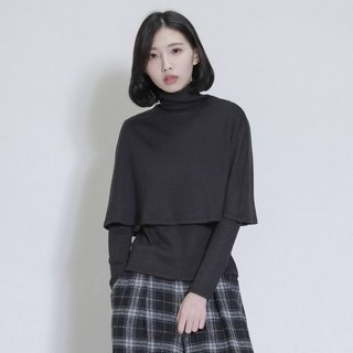 SU: MI said Sky Skyline Double Turtleneck _7AF008_ 黑