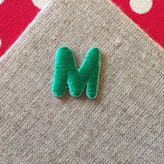 Capital letters M-self-adhesive embroidered cloth stickers