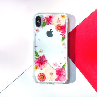 滿裡透紅 押花 手機殼 Maroon Pressed Flower Phone Cases
