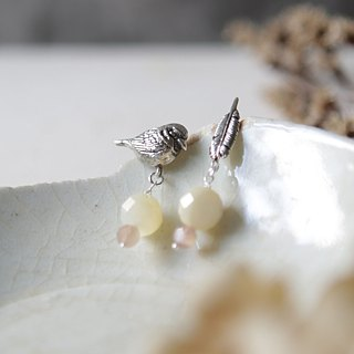 Petite Fille Female Unfinished Silver Mini Collection Sparrow Silver Earrings Ear Studs