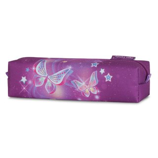 Tiger Family Little Noble Cute Simple Pencil Box - Starry Butterflies