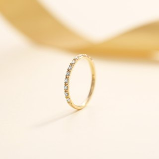 【PurpleMay Jewellery Custom Order】 18k Rose Gold Full Eternity Diamond Ring R001