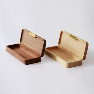 Goody Bag - Wooden pen case double entry (can pick color / give lettering)-[VUCA-Design]