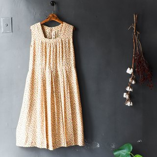 River water - Saga warm milk tea flowers light time antique casual skirt overalls oversize vintage dress