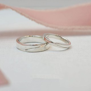 Hug (sterling silver couple ring Valentine's Day gift) ::C% handmade jewelry::